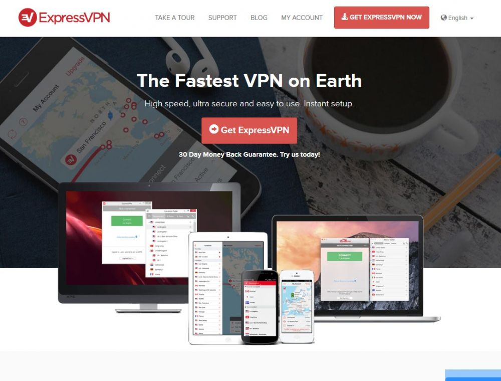 expressvpn.com Screenshot
