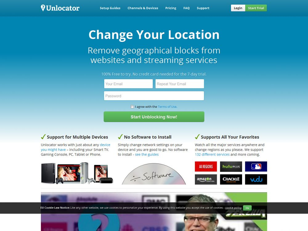 unlocator.com Screenshot