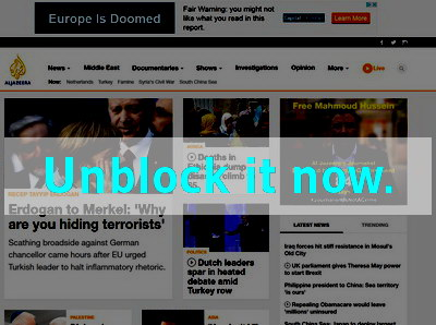 Click here to unblock Al Jazeera