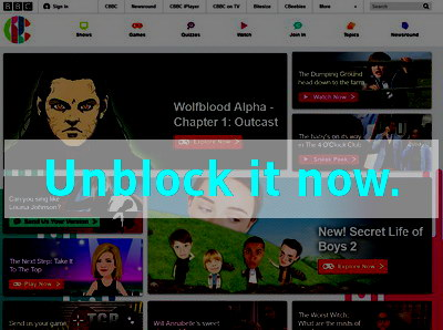 Click here to unblock CBBC