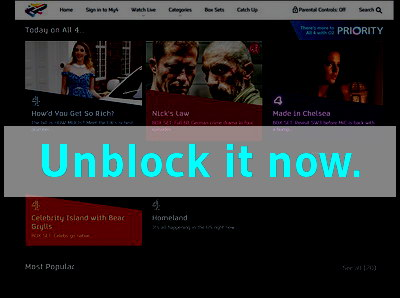 Click here to unblock 4oD