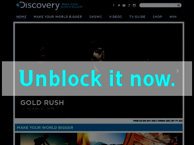 Click here to unblock Discovery UK