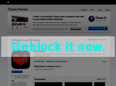 Click here to unblock TV Guide APP
