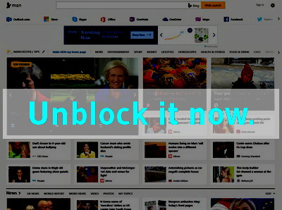 Click here to unblock MSN UK