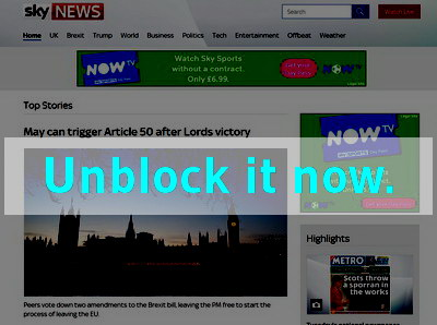 Click here to unblock Sky News
