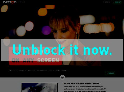 Click here to unblock zattoo- UK
